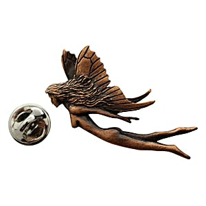 Fairy Pin ~ Antiqued Copper ~ Lapel Pin ~ Sarah's Treats & Treasures