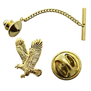 Flying Eagle Tie Tack ~ 24K Gold ~ Tie Tack ~ Sarah's Treats & Treasures