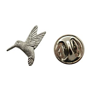 Humming Bird Mini Pin ~ Antiqued Pewter ~ Miniature Lapel Pin ~ Sarah's Treats & Treasures