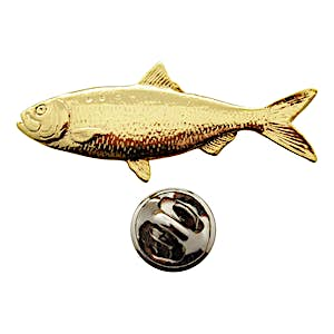 Shad Pin ~ 24K Gold ~ Lapel Pin ~ 24K Gold Lapel Pin ~ Sarah's Treats & Treasures