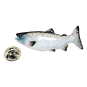 Coho Salmon Pin ~ Hand Painted ~ Lapel Pin ~ Hand Painted Lapel Pin ~ Sarah's Treats & Treasures