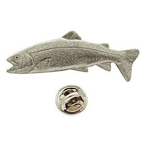 Rainbow Trout Pin ~ Antiqued Pewter ~ Lapel Pin ~ Sarah's Treats & Treasures