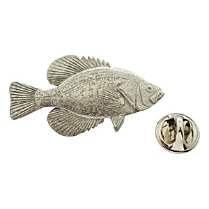Black Crappie Pin ~ Antiqued Pewter ~ Lapel Pin ~ Sarah's Treats & Treasures
