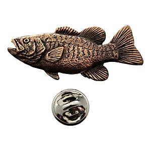 Smallmouth Bass Pin ~ Antiqued Copper ~ Lapel Pin ~ Sarah's Treats & Treasures