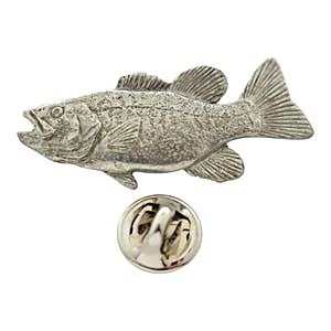 Smallmouth Bass Pin ~ Antiqued Pewter ~ Lapel Pin ~ Sarah's Treats & Treasures