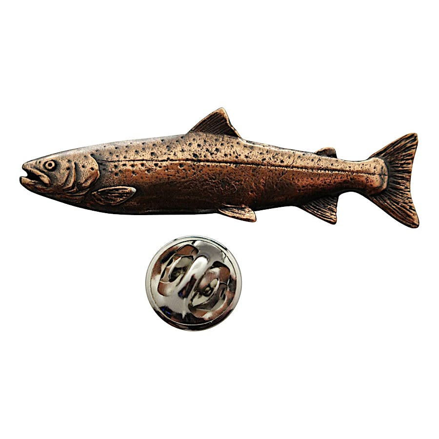 Atlantic Salmon Pin ~ Antiqued Copper ~ Lapel Pin ~ Sarah's Treats & Treasures