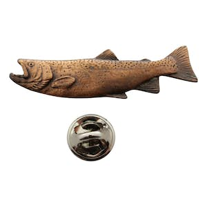 Male Steelhead Pin ~ Antiqued Copper ~ Lapel Pin ~ Antiqued Copper Lapel Pin ~ Sarah's Treats & Treasures