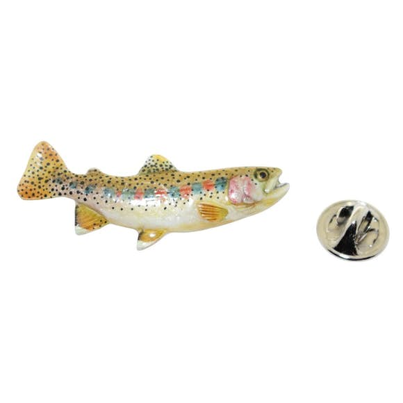 Cutthroat Trout Pin ~ Hand Painted ~ Lapel Pin ~ Hand Painted Lapel Pin ~ Sarah's Treats & Treasures