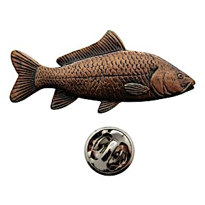 Carp Pin ~ Antiqued Copper ~ Lapel Pin ~ Sarah's Treats & Treasures