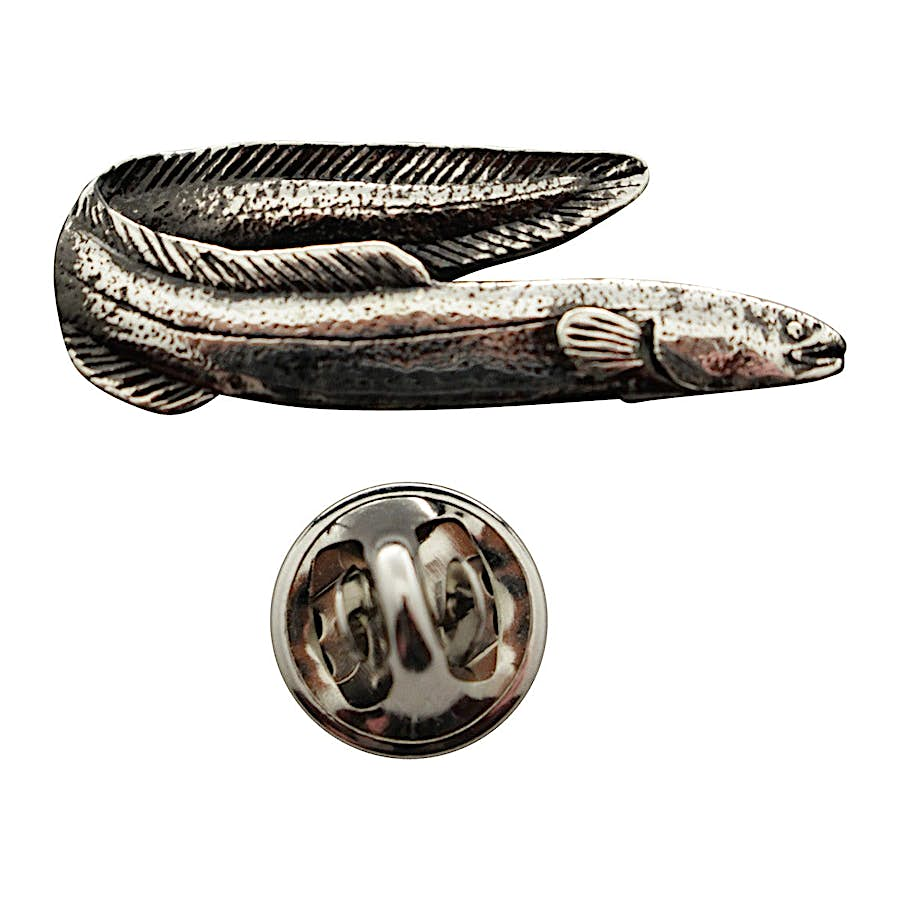 Eel Pin ~ Antiqued Pewter ~ Lapel Pin ~ Sarah's Treats & Treasures