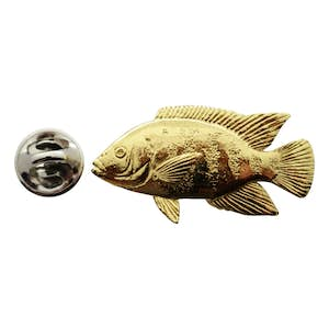 Tilapia Pin ~ 24K Gold ~ Lapel Pin ~ 24K Gold Lapel Pin ~ Sarah's Treats & Treasures