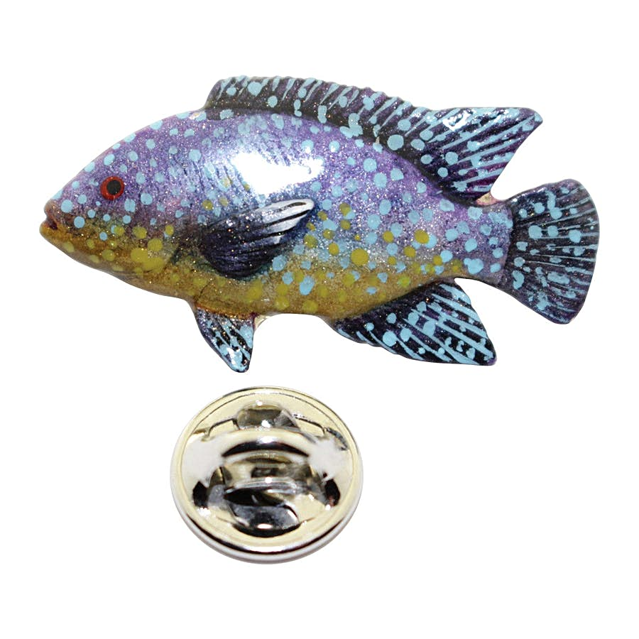 Tilapia Pin ~ Hand Painted ~ Lapel Pin ~ Hand Painted Lapel Pin ~ Sarah's Treats & Treasures