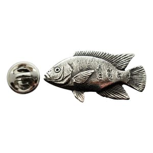 Tilapia Pin ~ Antiqued Pewter ~ Lapel Pin ~ Sarah's Treats & Treasures