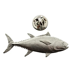 Bluefin Tuna Pin ~ Antiqued Pewter ~ Lapel Pin ~ Sarah's Treats & Treasures