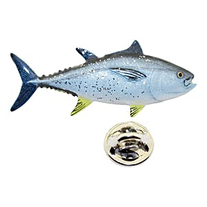 Bluefin Tuna Pin ~ Hand Painted ~ Lapel Pin ~ Sarah's Treats & Treasures