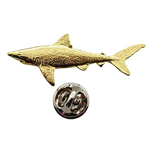 Dusky Shark Pin ~ 24K Gold ~ Lapel Pin ~ Sarah's Treats & Treasures