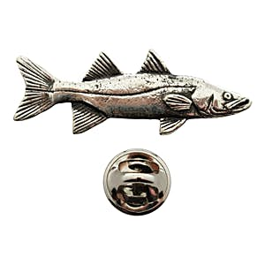 Snook Pin ~ Antiqued Pewter ~ Lapel Pin ~ Sarah's Treats & Treasures