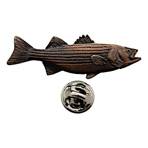 Striper Pin ~ Antiqued Copper ~ Lapel Pin ~ Antiqued Copper Lapel Pin ~ Sarah's Treats & Treasures