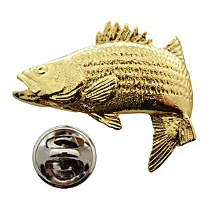 Jumping Striper Pin ~ 24K Gold ~ Lapel Pin ~ 24K Gold Lapel Pin ~ Sarah's Treats & Treasures