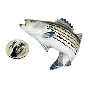 Striper Pin ~ Hand Painted ~ Lapel Pin ~ Hand Painted Lapel Pin ~ Sarah's Treats & Treasures