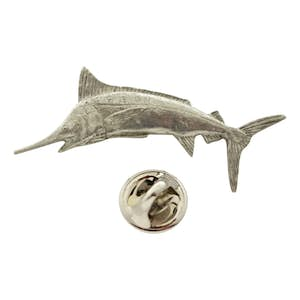Marlin Pin ~ Antiqued Pewter ~ Lapel Pin ~ Sarah's Treats & Treasures