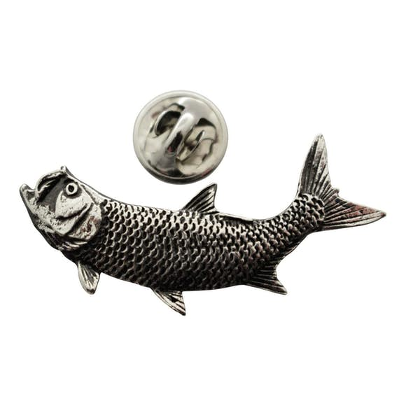 Tarpon Pin ~ Antiqued Pewter ~ Lapel Pin ~ Sarah's Treats & Treasures