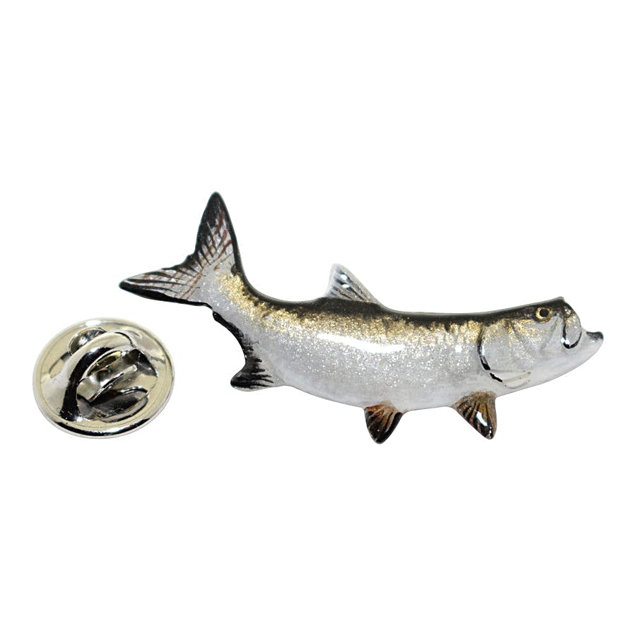 Tarpon Pin ~ Hand Painted ~ Lapel Pin ~ Hand Painted Lapel Pin ~ Sarah's Treats & Treasures