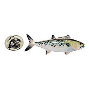 Bonito Pin ~ Hand Painted ~ Lapel Pin ~ Sarah's Treats & Treasures