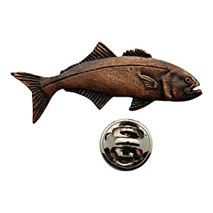 Bluefish Pin ~ Antiqued Copper ~ Lapel Pin ~ Sarah's Treats & Treasures