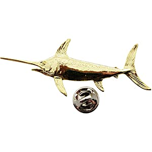 Swordfish Pin ~ 24K Gold ~ Lapel Pin ~ 24K Gold Lapel Pin ~ Sarah's Treats & Treasures