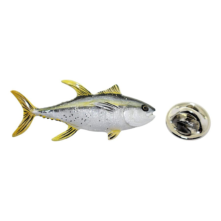 Yellowfin Tuna Pin ~ Hand Painted ~ Lapel Pin ~ Hand Painted Lapel Pin ~ Sarah's Treats & Treasures