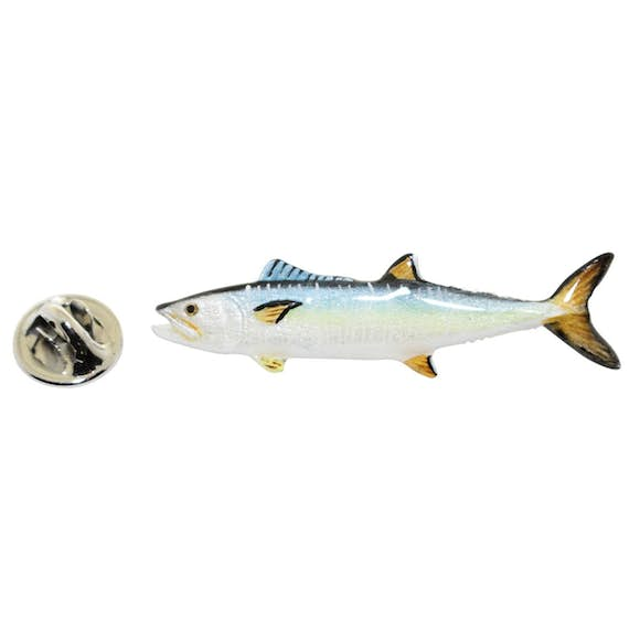 King Mackerel Pin ~ Hand Painted ~ Lapel Pin ~ Hand Painted Lapel Pin ~ Sarah's Treats & Treasures