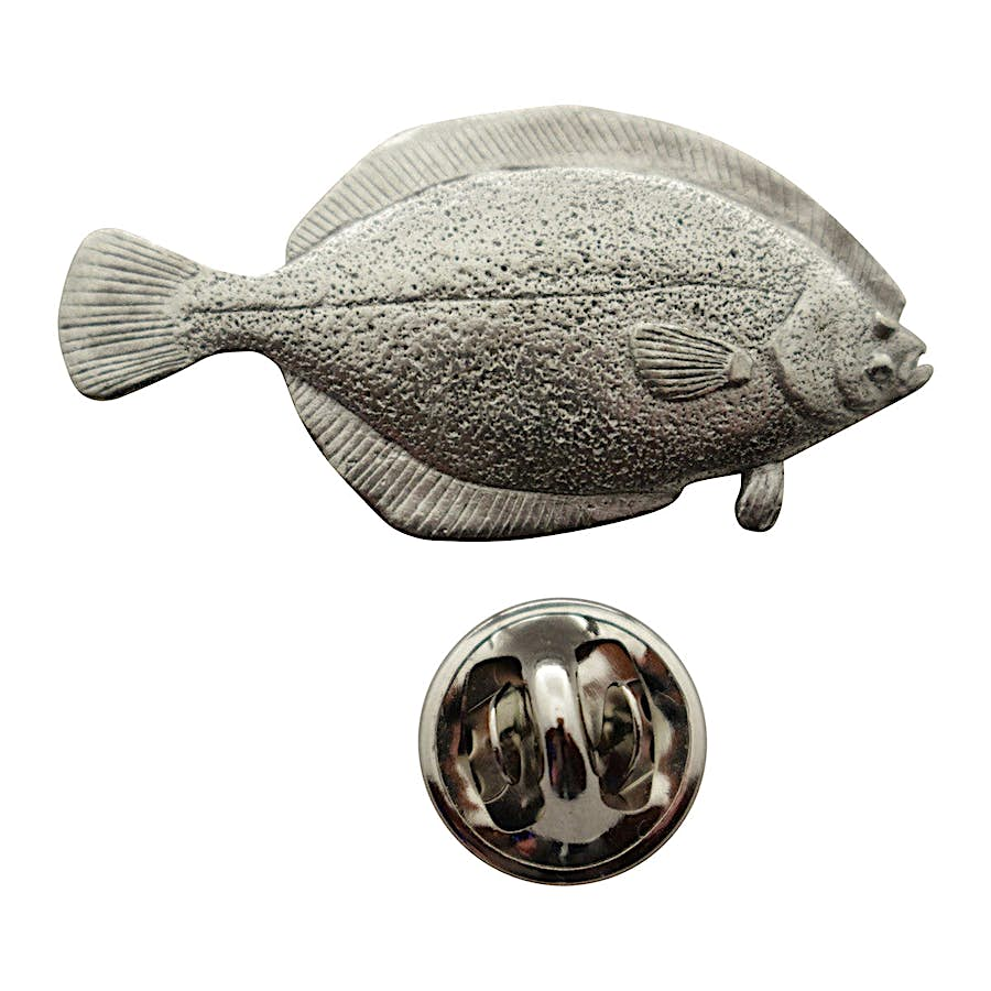 Flounder Pin ~ Antiqued Pewter ~ Lapel Pin ~ Sarah's Treats & Treasures