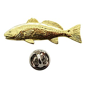 Redfish Pin ~ 24K Gold ~ Lapel Pin ~ 24K Gold Lapel Pin ~ Sarah's Treats & Treasures