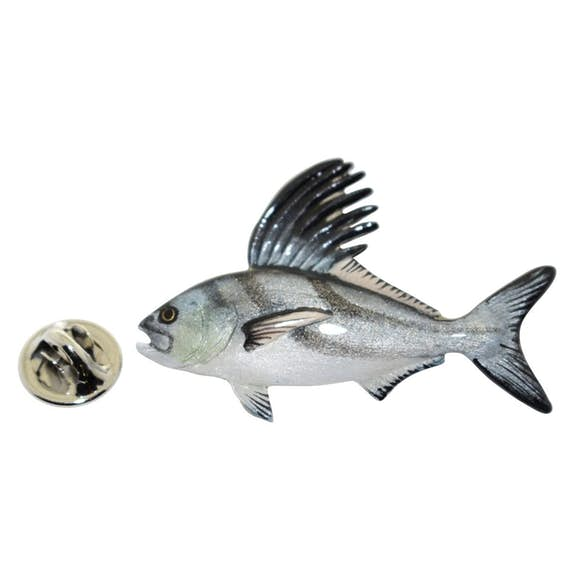 Roosterfish Pin ~ Hand Painted ~ Lapel Pin ~ Hand Painted Lapel Pin ~ Sarah's Treats & Treasures