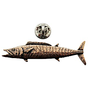 Wahoo Pin ~ Antiqued Copper ~ Lapel Pin ~ Sarah's Treats & Treasures
