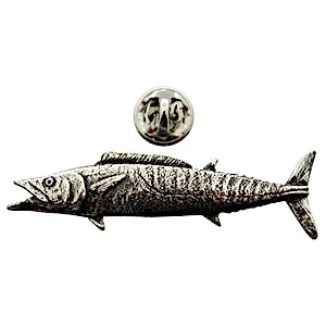 Wahoo Pin ~ Antiqued Pewter ~ Lapel Pin ~ Sarah's Treats & Treasures