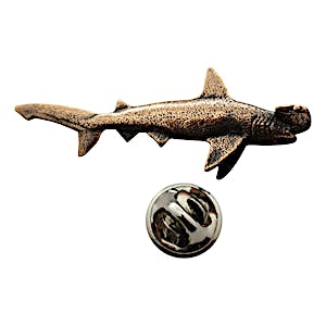 Hammerhead Shark Pin ~ Antiqued Copper ~ Lapel Pin ~ Sarah's Treats & Treasures