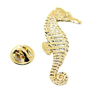 Sea Horse Pin ~ 24K Gold ~ Lapel Pin ~ 24K Gold Lapel Pin ~ Sarah's Treats & Treasures