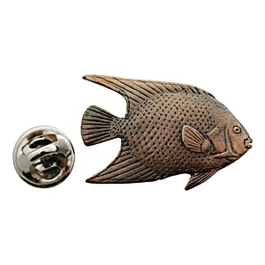 Angelfish Pin ~ Antiqued Copper ~ Lapel Pin ~ Sarah's Treats & Treasures