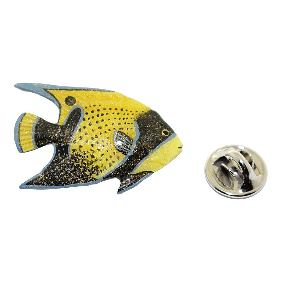 Angelfish Pin ~ Hand Painted ~ Lapel Pin ~ Sarah's Treats & Treasures