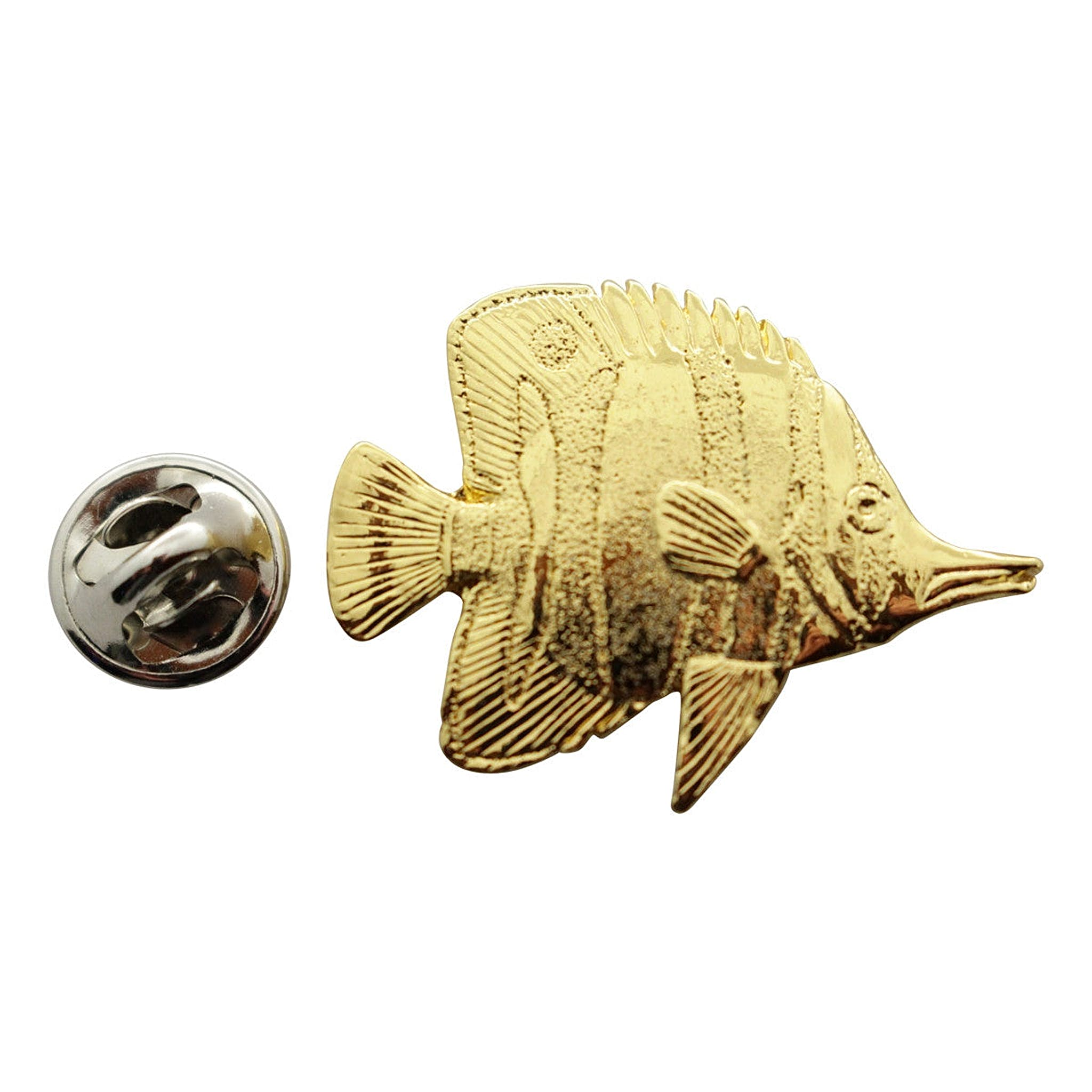 Butterfly Fish Pin ~ 24K Gold ~ Lapel Pin