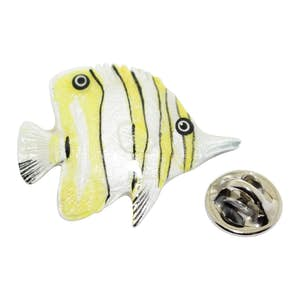 Butterflyfish Pin ~ Hand Painted ~ Lapel Pin ~ Hand Painted Lapel Pin ~ Sarah's Treats & Treasures