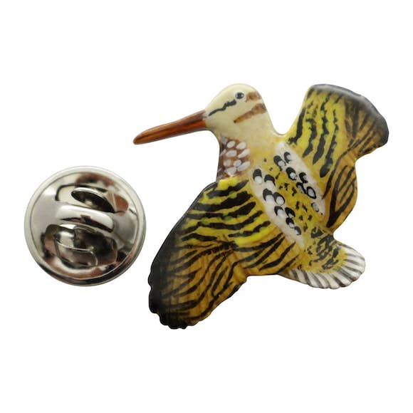 Woodcock Pin ~ Hand Painted ~ Lapel Pin ~ Hand Painted Lapel Pin ~ Sarah's Treats & Treasures