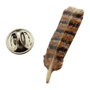 Tail Feather Pin ~ Hand Painted ~ Lapel Pin ~ Hand Painted Lapel Pin ~ Sarah's Treats & Treasures