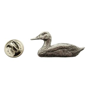 Canvasback Decoy Pin ~ Antiqued Pewter ~ Lapel Pin ~ Antiqued Pewter Lapel Pin ~ Sarah's Treats & Treasures