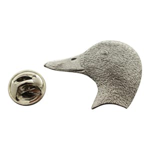 Mallard Head Pin ~ Antiqued Pewter ~ Lapel Pin ~ Sarah's Treats & Treasures