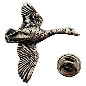 Canada Goose Flying Pin ~ Antiqued Pewter ~ Lapel Pin ~ Antiqued Pewter Lapel Pin ~ Sarah's Treats & Treasures