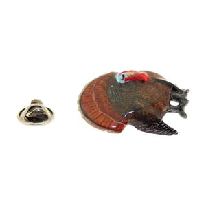 Turkey Pin ~ Hand Painted ~ Lapel Pin ~ Hand Painted Lapel Pin ~ Sarah's Treats & Treasures