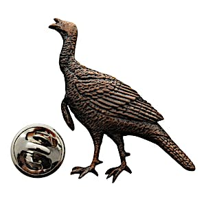 Alert Turkey Pin ~ Antiqued Copper ~ Lapel Pin ~ Sarah's Treats & Treasures